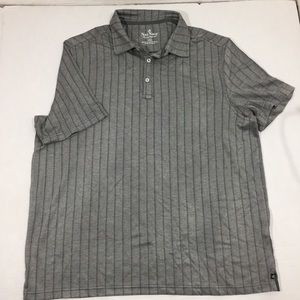 Men's Nat Nast Gray Silk Polo Shirt XXL